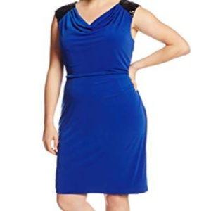 NWT Calvin Klein Cowl-Neck Sheath Dress 16W